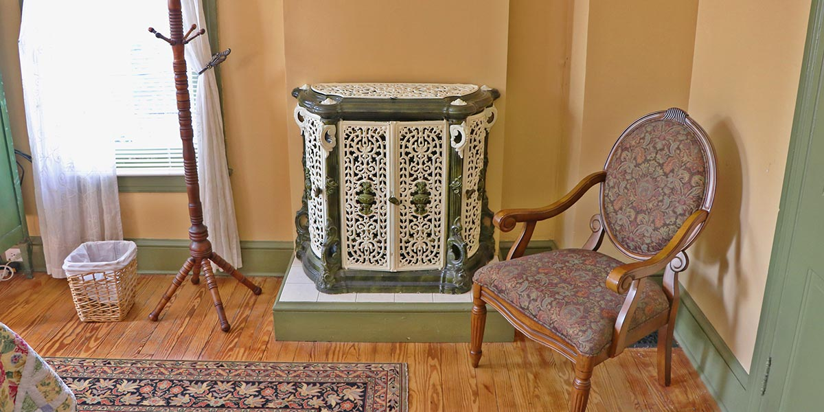 Topaz Room antique radiator